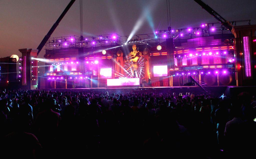 Panaji: The Sunburn festival begins at Vagator, near Panaji on Dec 28, 2014. (Photo: IANS)