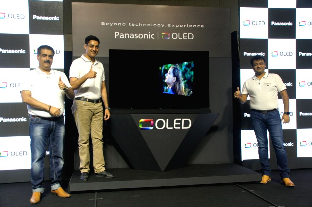Panasonic India and South Asia President and CEO Manish Sharma and Panasonic India Associate Director-Business Group Head (Consumer Electronic) Neeraj Bahl at the launch of OLED TV series ... - Manish Sharma