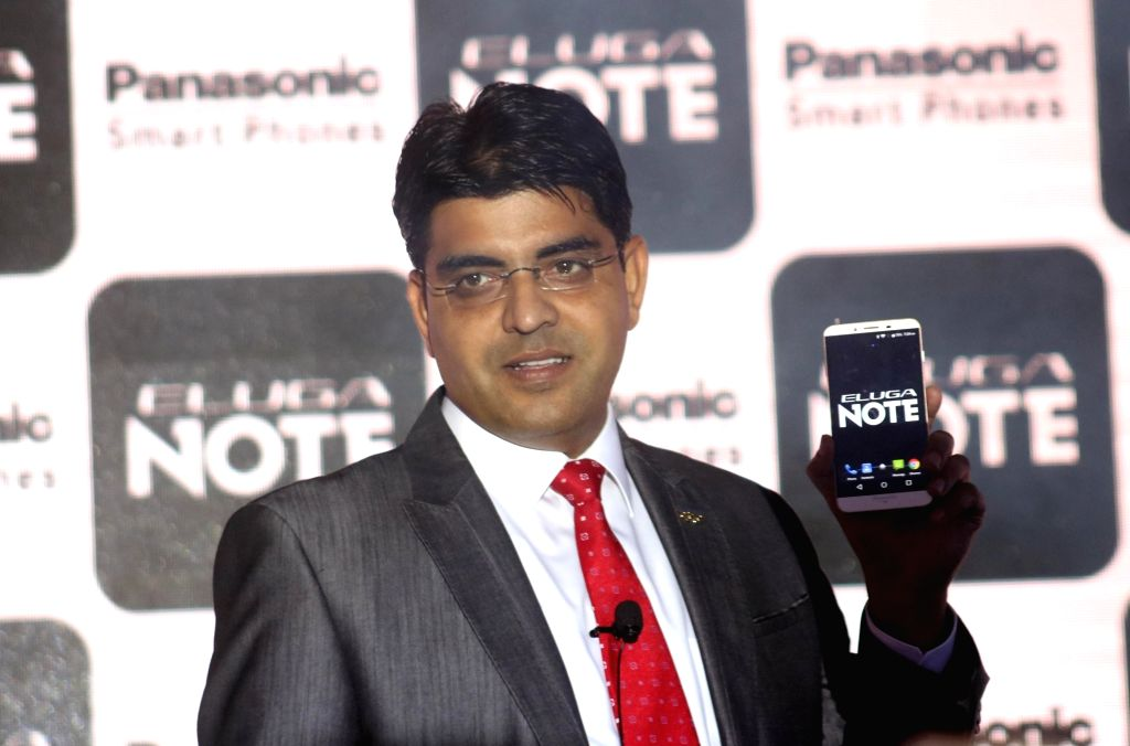 "Panasonic India, Business Head (Mobility Division) Pankaj Rana  at the launch of ""ELUGA NOTE"" - a smartphone in New Delhi, on July 3, 2016."