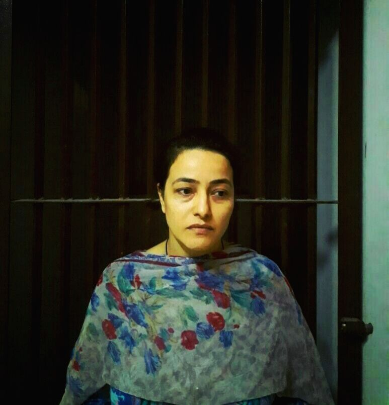 Panchkula (Haryana): Honeypreet, close aide of Dera sect chief Gurmeet Ram Rahim Singh at a police station in Panchkula (Haryana) on Sept. 9, 2017.