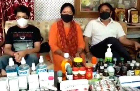 Pandit family's medicine bank.