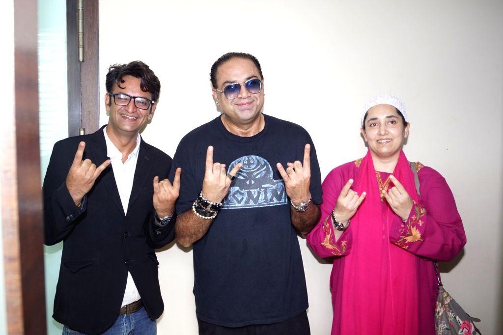 "Panini Pandit, the son of late veteran actor Raaj Kumar, during recording of song ""Kahu Main Ya Kahu Na"" in Mumbai on May 1, 2018. - Raaj Kumar"