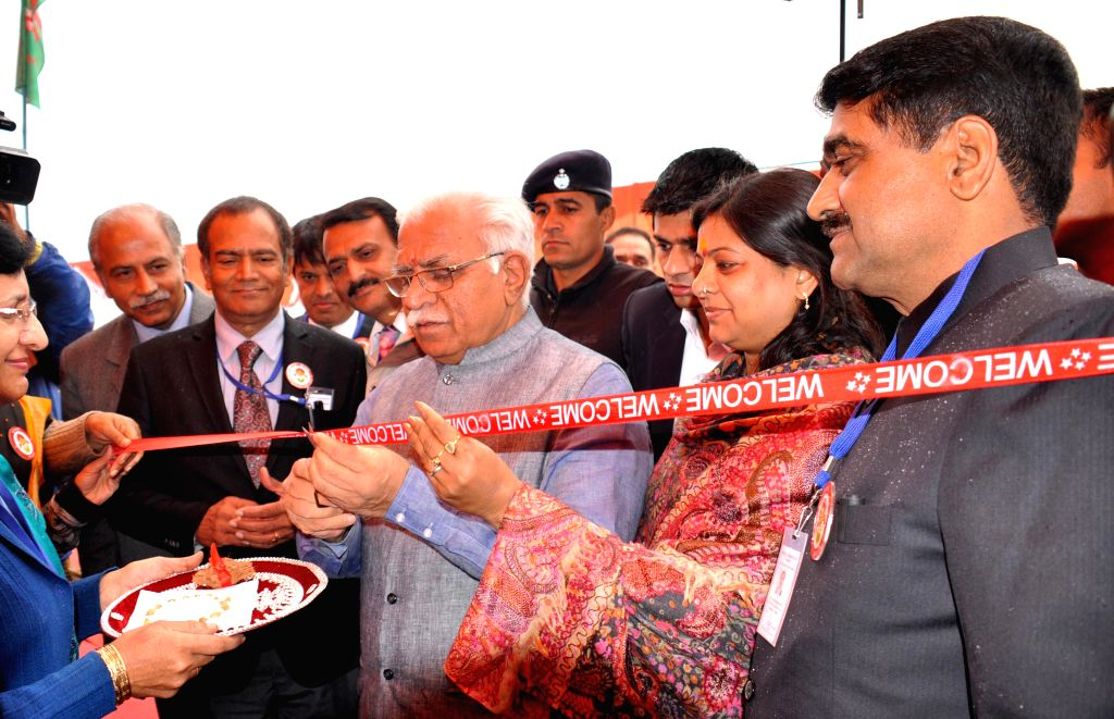 Haryana Chief Minister Manohar Lal Khattar during inauguration of `Beti Bachao-Beti Padhao Programme` in Panipat, Haryana on Jan 22, 2015. - Manohar Lal Khattar