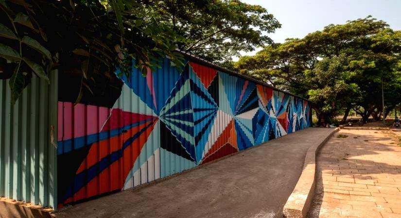 Panjim's waste sorting station turns into art canvasses, stirs creativity