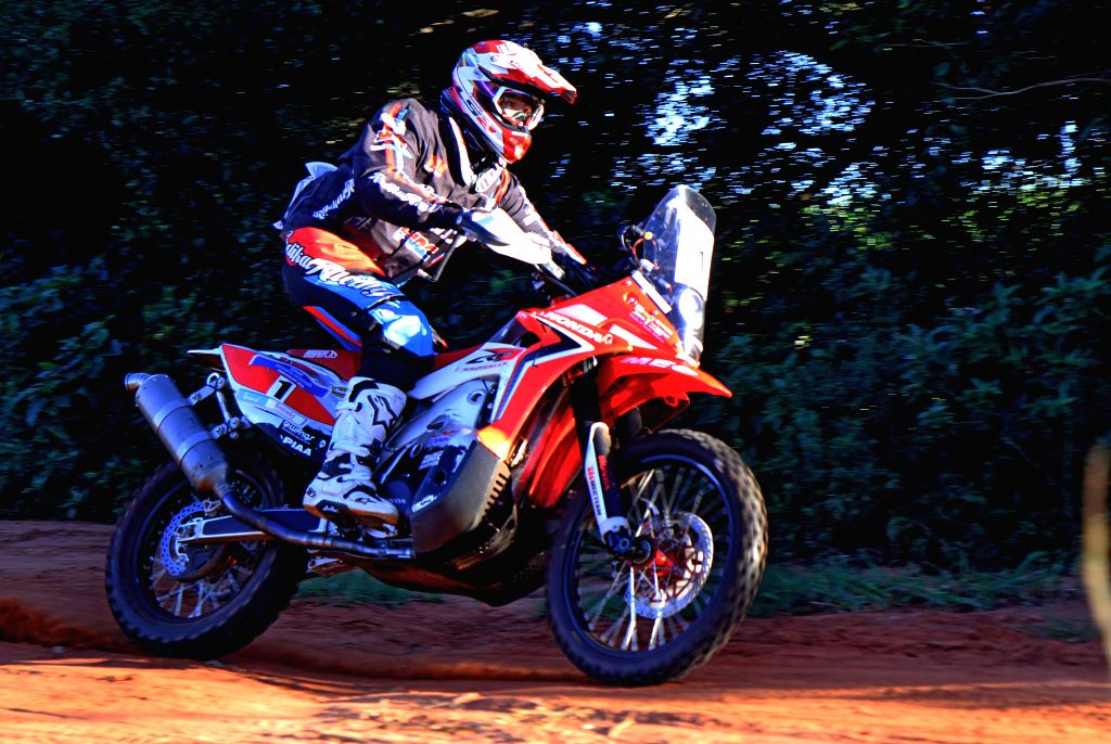 Argentine pilot Javier Pizzolito, of the Mec-Team, takes part in the fist leg of the Guarani Challenge of the Dakar Series, in the Paraguari department, 200km ...