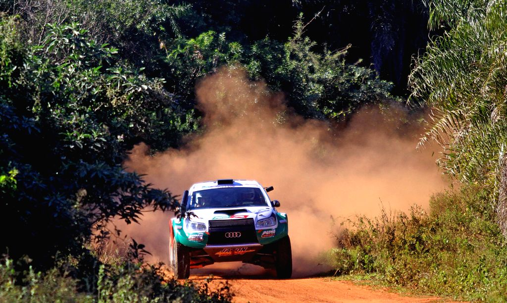 Pilots Viktor Rempel and Vernon Rempel, of the 4wd Jaton Racing SL team, take part in the fist leg of the Guarani Challenge of the Dakar Series, in the Paraguari .