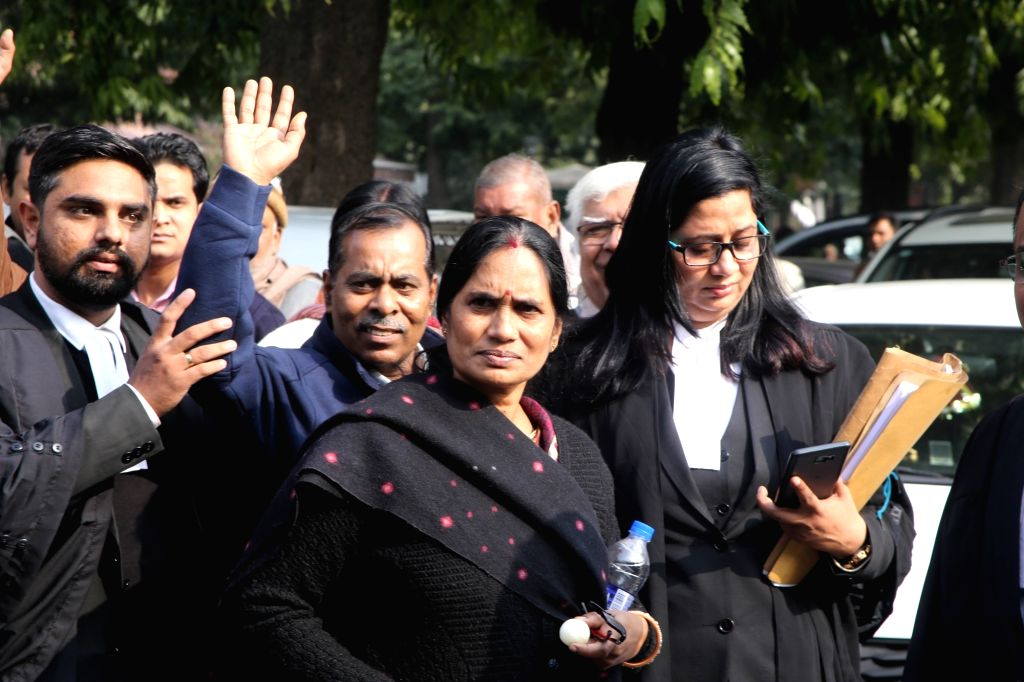 Parents of the December 16 gangrape victim outside the Supreme Court after the hearing of a review plea filed by one of the four men convicted in the 2012 Delhi Nirbhaya gang-rape and ... - Akshay Kumar Singh