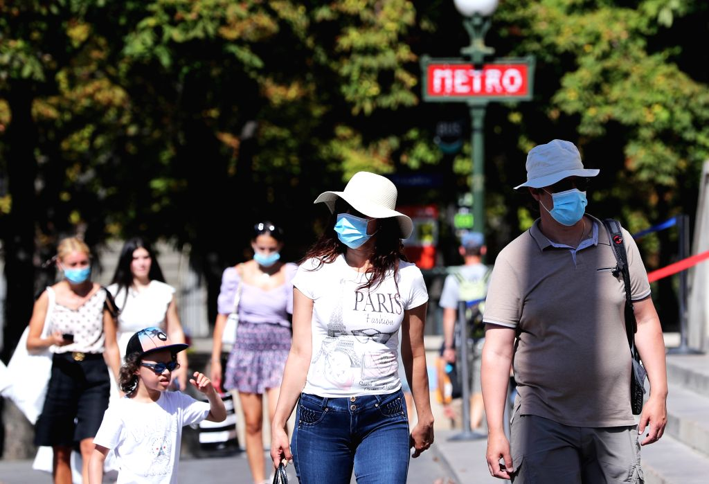 Paris, Aug 10 (IANS) The mandatory wearing of face masks while outdoors in many parts of Paris came into effect on Monday, after authorities imposed new measures to curb COVID-19 spread in the French capital.