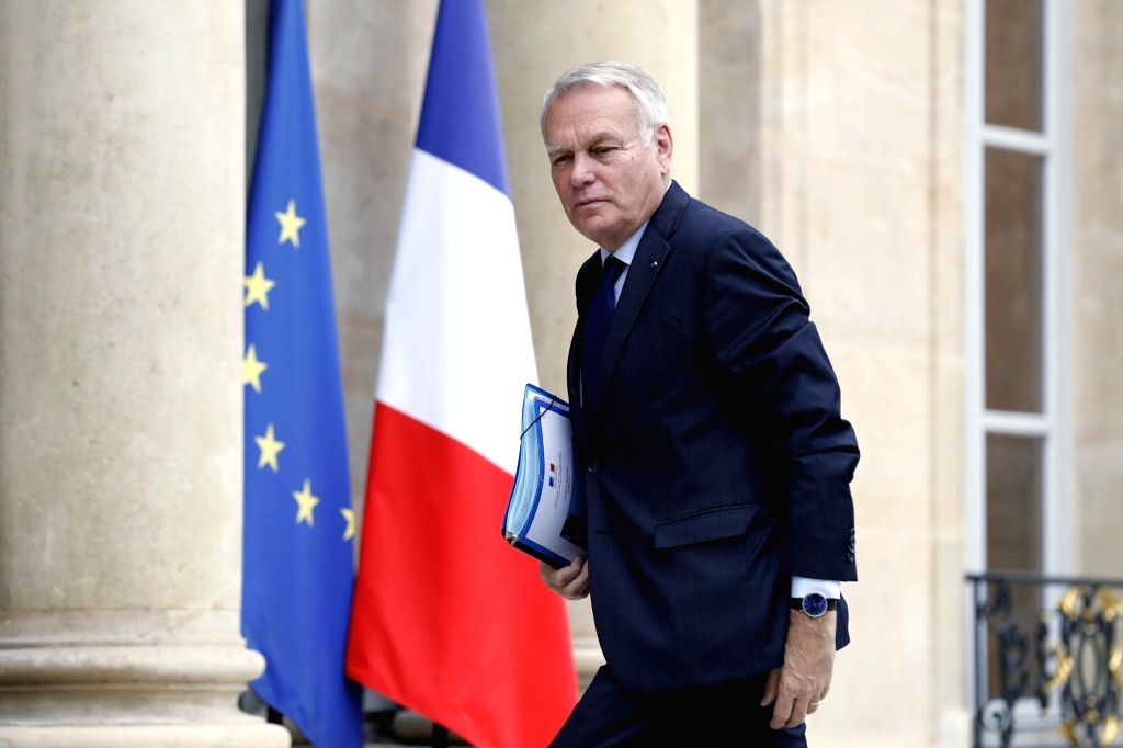 PARIS, Aug. 4, 2016 - French Foreign Minister Jean-Marc Ayrault arrives to attend a security meeting convened by French President Francois Hollande in Paris, capital of France, on Aug. 3, 2016. - Jean-Marc Ayrault