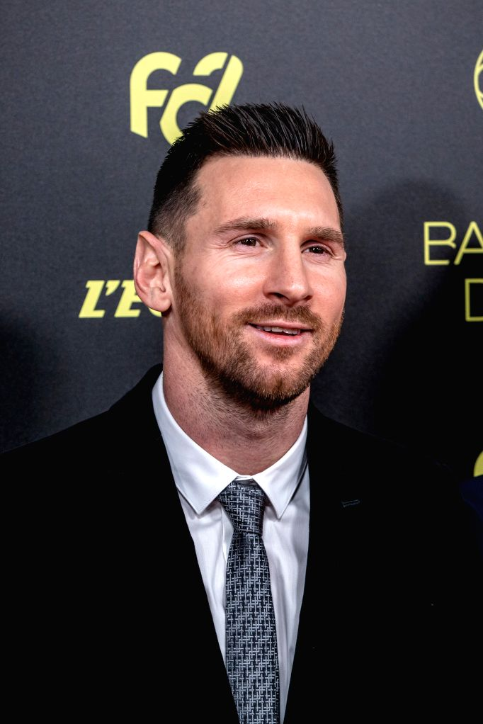PARIS, Dec. 3, 2019 - Barcelona's Argentinian forward Lionel Messi arrives to attend the Ballon d'Or 2019 awards ceremony at the Theatre du Chatelet in Paris, France, Dec. 2, 2019.