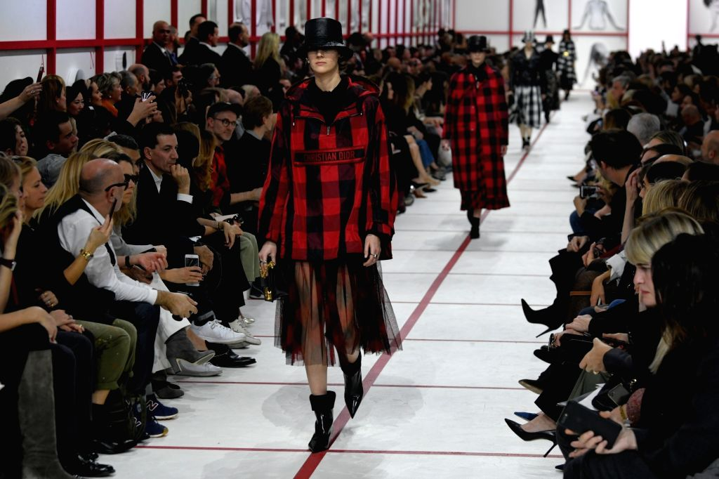 PARIS, Feb. 26, 2019 - Models present creations for Christian Dior Fall/Winter 2019/2020 ready-to-wear collection show during Paris fashion week in Paris, France, on Feb. 26, 2019.