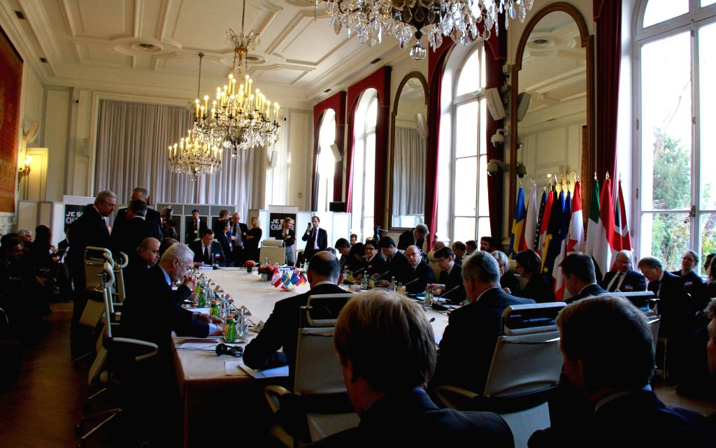 European and American Home Affairs Ministers assemble in Paris, France, Jan. 11, 2015. Paris holds an emergency summit on counter-terrorism measures in the wake of ...