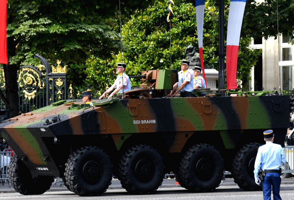 PARIS, July 14, 2016 - A French military tank attends the annual Bastille Day military parade in Paris, France, July 14, 2016.