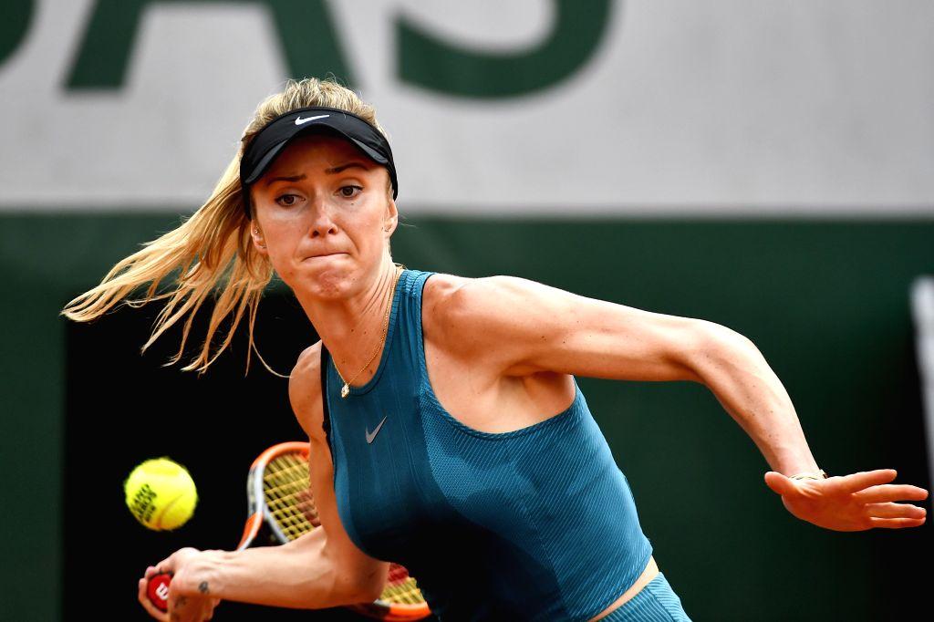 PARIS, June 1, 2018 - Elina Svitolina of Ukraine returns a shot during the women's singles third round match against Mihaela Buzarnescu of Romania at the French Open Tennis Tournament 2018 in Paris, ...