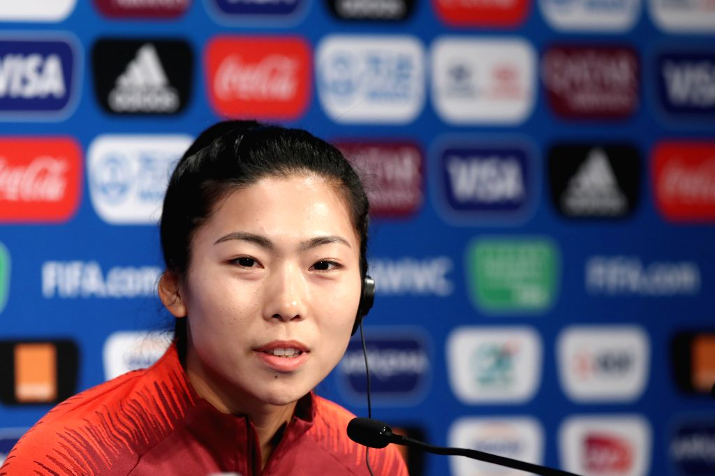 PARIS, June 12, 2019 - Chinese player Gu Yasha of China attends the official press conference one day ahead of the group B match between South Africa and China at the 2019 FIFA Women's World Cup in ...