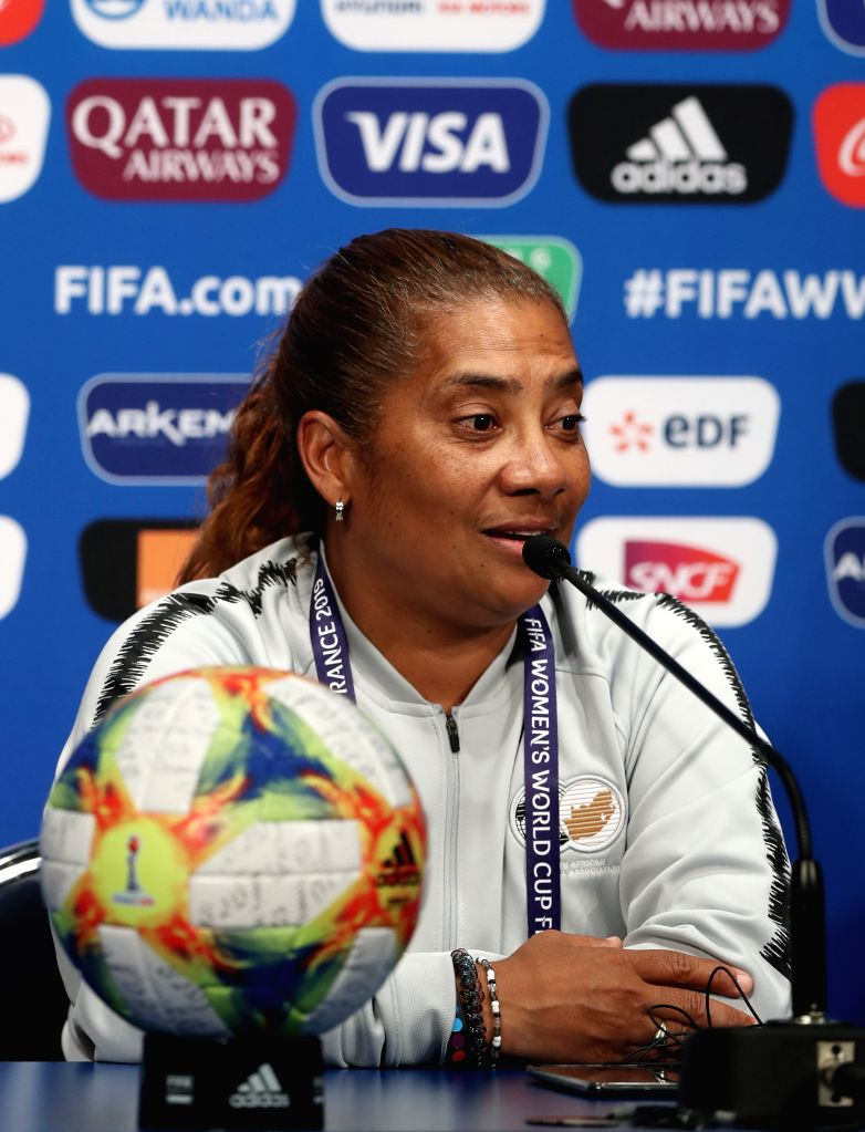 PARIS, June 13, 2019 - Head coach Desiree Ellis of South Africa attends the official press conference one day ahead of the group B match between South Africa and China at the 2019 FIFA Women's World ...