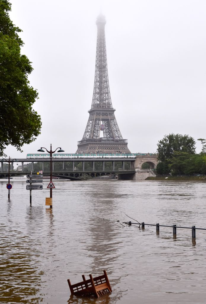 PARIS, June 4, 2016 - Rising Seine River water submerges its bank in Paris, France, June 4, 2016. Death toll in floods that hit Paris and central French cities rose to four with 24 others wounded, ... - Manuel Valls
