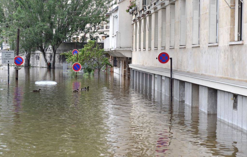 PARIS, June 4, 2016 - Rising Seine River water submerges the basement of a building in Paris, France, June 4, 2016. Death toll in floods that hit Paris and central French cities rose to four with 24 ... - Manuel Valls