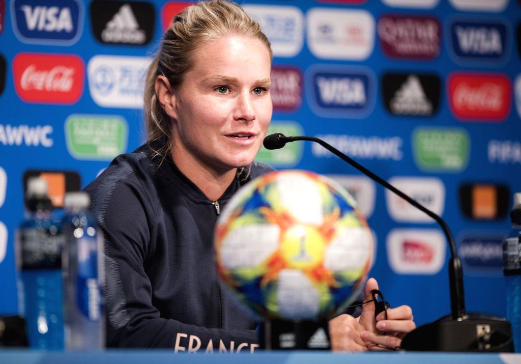 PARIS, June 6, 2019 - Captain Amandine Henry of France attends the press conference held at the Parc des Princes in Paris, France on June 6, 2019. - Amandine Henry