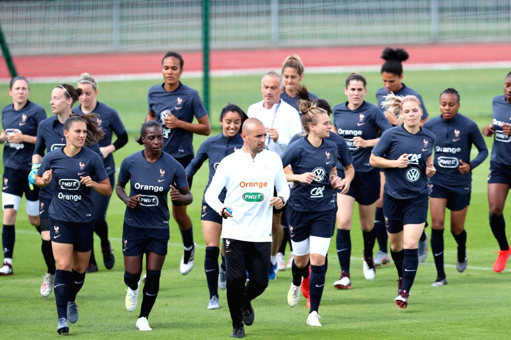 PARIS, June 6, 2019 - Players of France attend the training session ahead of their group match at the 2019 FIFA Women's World Cup in Paris, France, June 6, 2019.