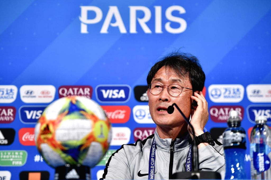 PARIS, June 7, 2019 - Head Coach Yoon Dukyeo attends the press conference held at the Parc des Princes in Paris, France on June 6, 2019.