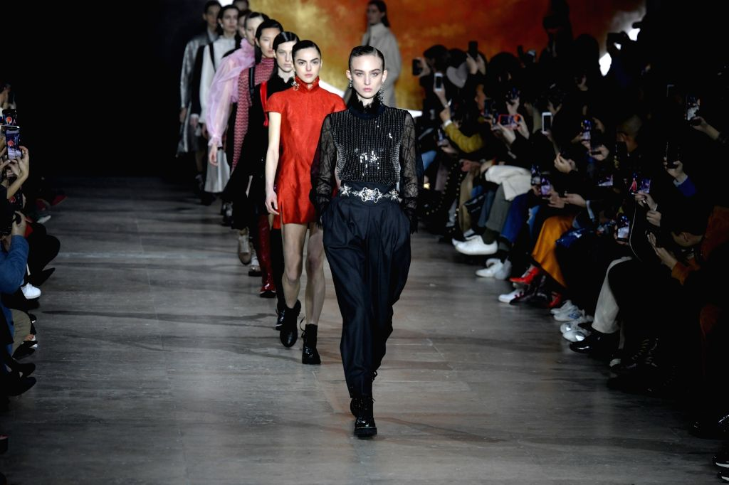 PARIS, March 5, 2019 - Models present creations of Shiatzy Chen for its Fall-Winter 2019/2020 Ready-to-Wear collection during Paris Fashion Week in Paris, France, March 4, 2019.