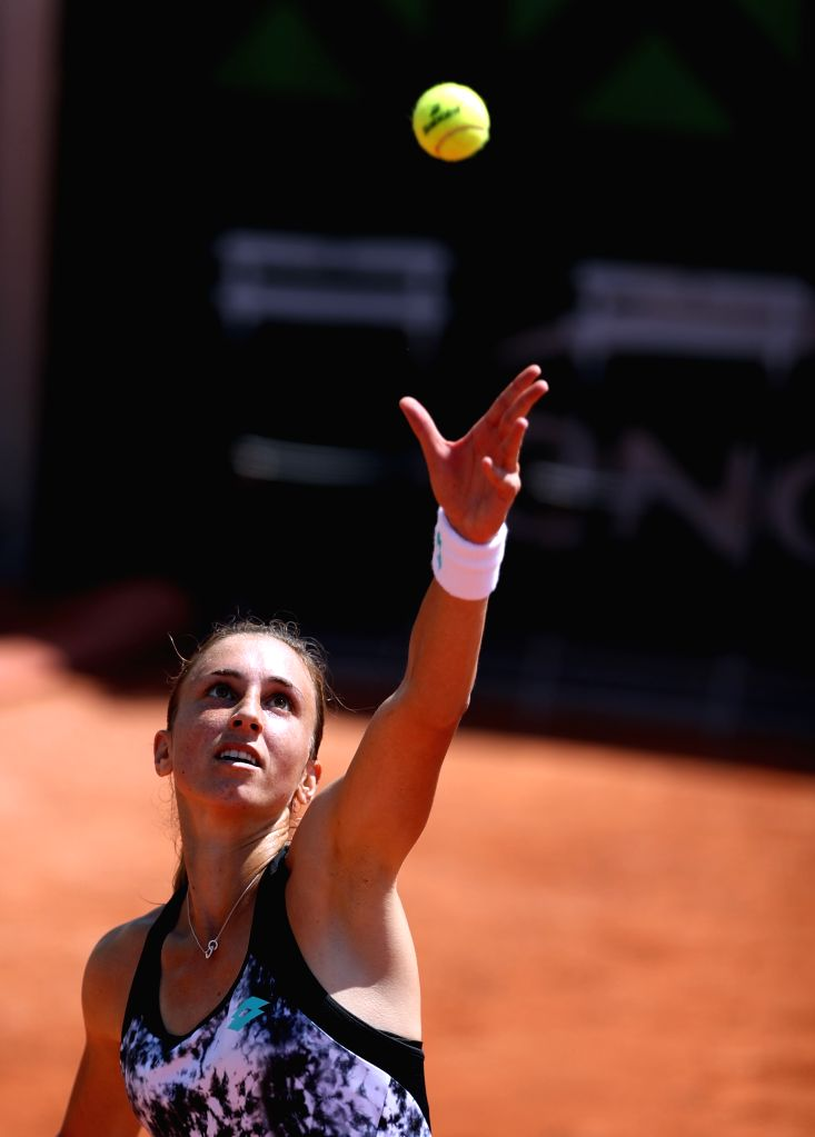 PARIS, May 27, 2017 - Petra Martic of Croatia serves during the women's singles first round match against Wang Yafan of China at the French Open Tennis Tournament 2018 in Paris, France on May 27, ...