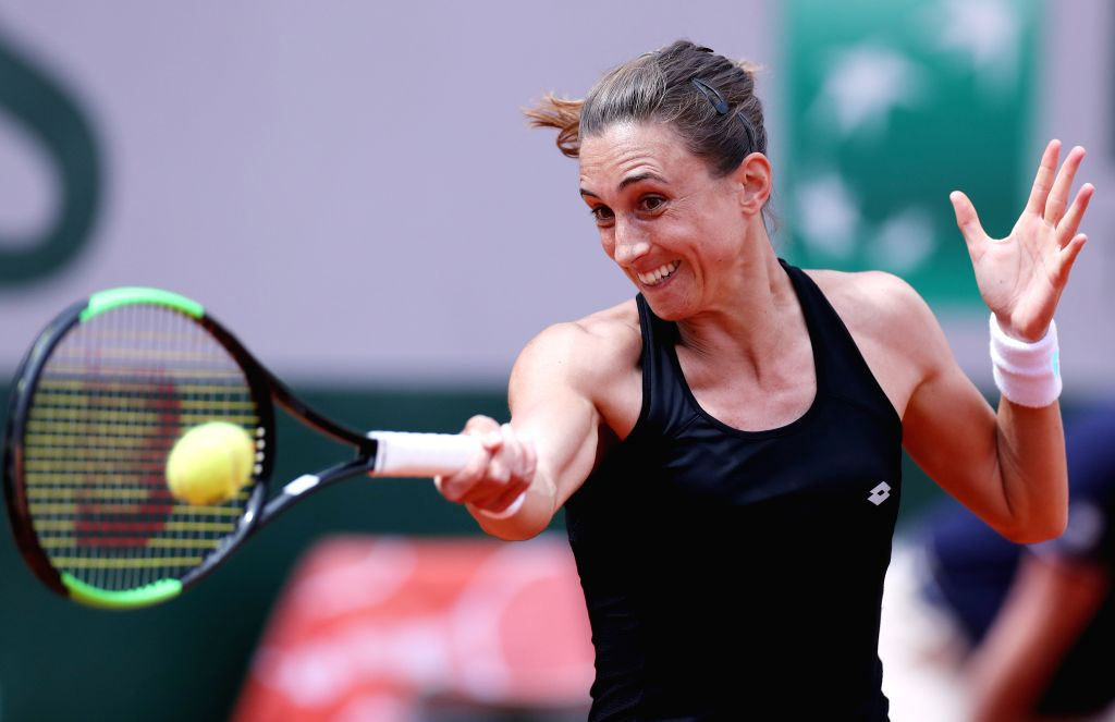PARIS, May 31, 2019 - Croatia's Petra Martic returns the ball during the women's singles third round match with Czech Republic's Karolina Pliskova at French Open tennis tournament 2019 at Roland ...