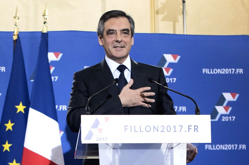 PARIS, Nov. 28, 2016 - Francois Fillon delivers a speech in Paris, capital of France, on Nov. 27, 2016. Former Prime Minister Francois Fillon won the conservative primary runoff on Sunday and is set ... - Francois Fillon