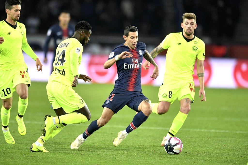 PARIS, Nov. 3, 2018 - Angel Di Maria (2nd R) of Paris Saint-Germain during the French Ligue 1 soccer match between Paris Saint-Germain and Lille in Paris, France on Nov. 2, 2018. Paris Saint-Germain ...
