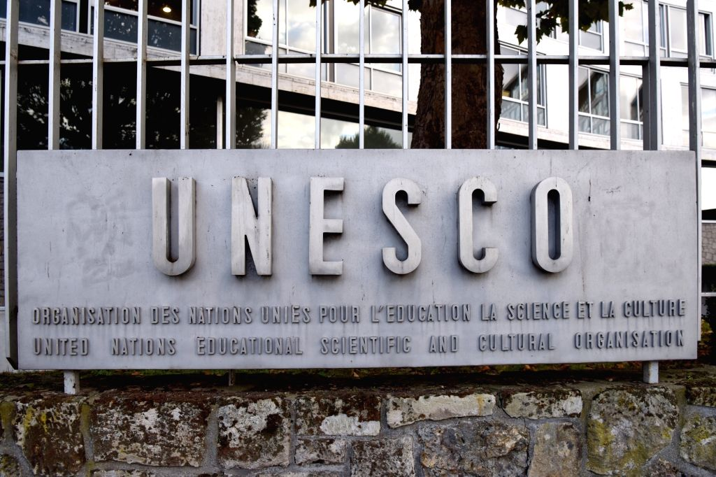 PARIS, Oct. 12, 2017 - Photo taken on Oct. 12, 2017 shows the United Nations Educational, Scientific and Cultural Organization (UNESCO) headquarters in Paris, France. The United States on Thursday ...