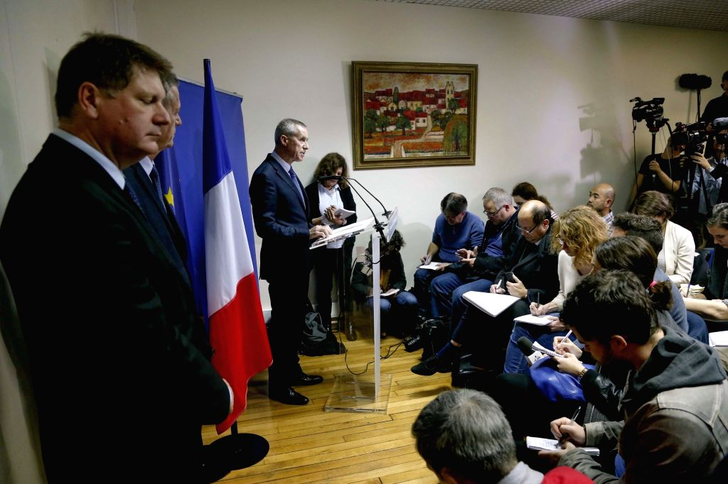 Paris Prosecutor Francois Molins attends a press conference on the Friday Paris attacks in Paris, France, Nov. 14, 2015. The provisional death toll of Paris attacks ...