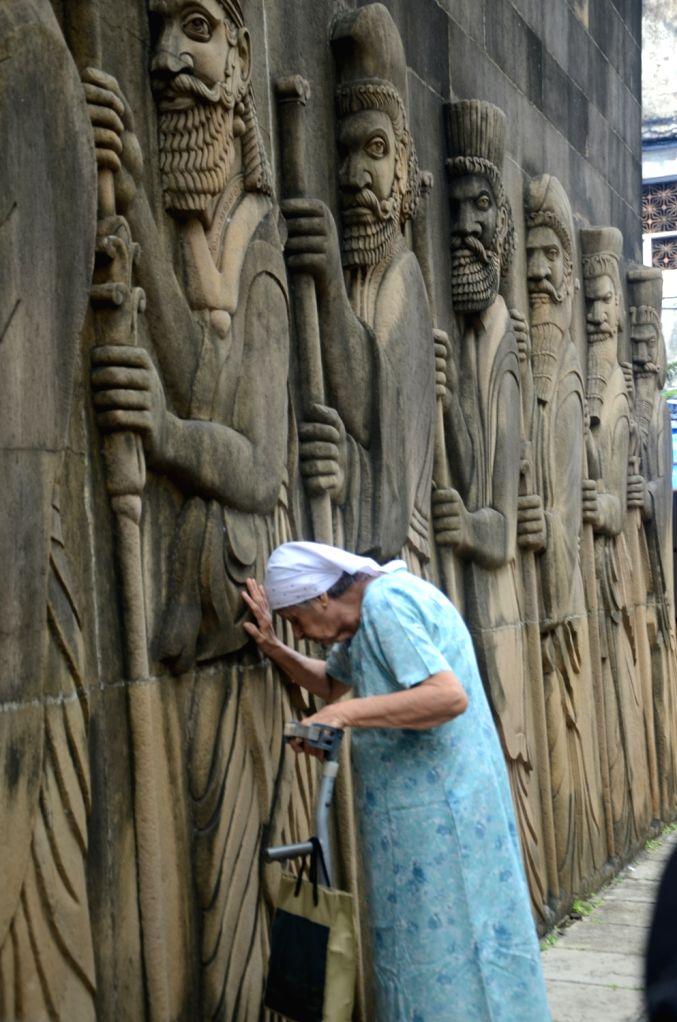 """Parsis pray at a temple on occasion of Parsi New Year """"Navroz"""" in Mumbai on Aug. 17, 2017."""