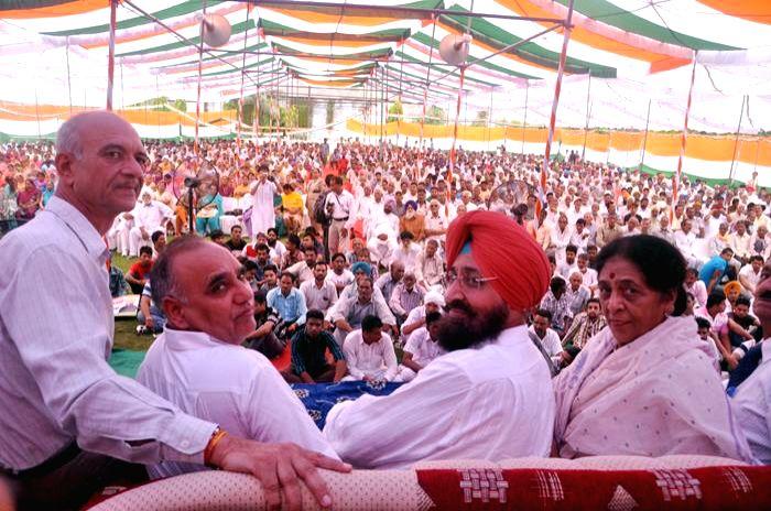 Partap Singh Bajwa, president Punjab Congress during a rally in Hoshiarpur, Punjab on August 16, 2013. (Photo::: IANS)