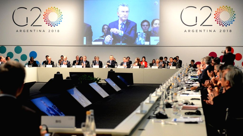 :Participants attend the Group of 20 (G20) Meeting of Finance Ministers and Central Bank Governors in Buenos Aires, Argentina, on July 22, 2018. Finance ...