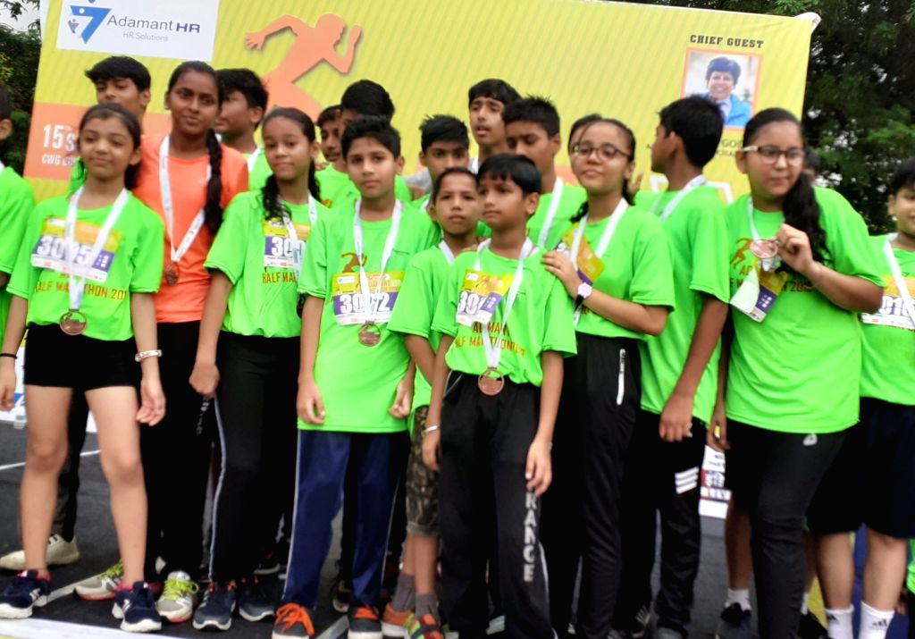 Participants of Adamant Half Marathon 2019 were felicitated at Commonwealth Games Village in New Delhi.
