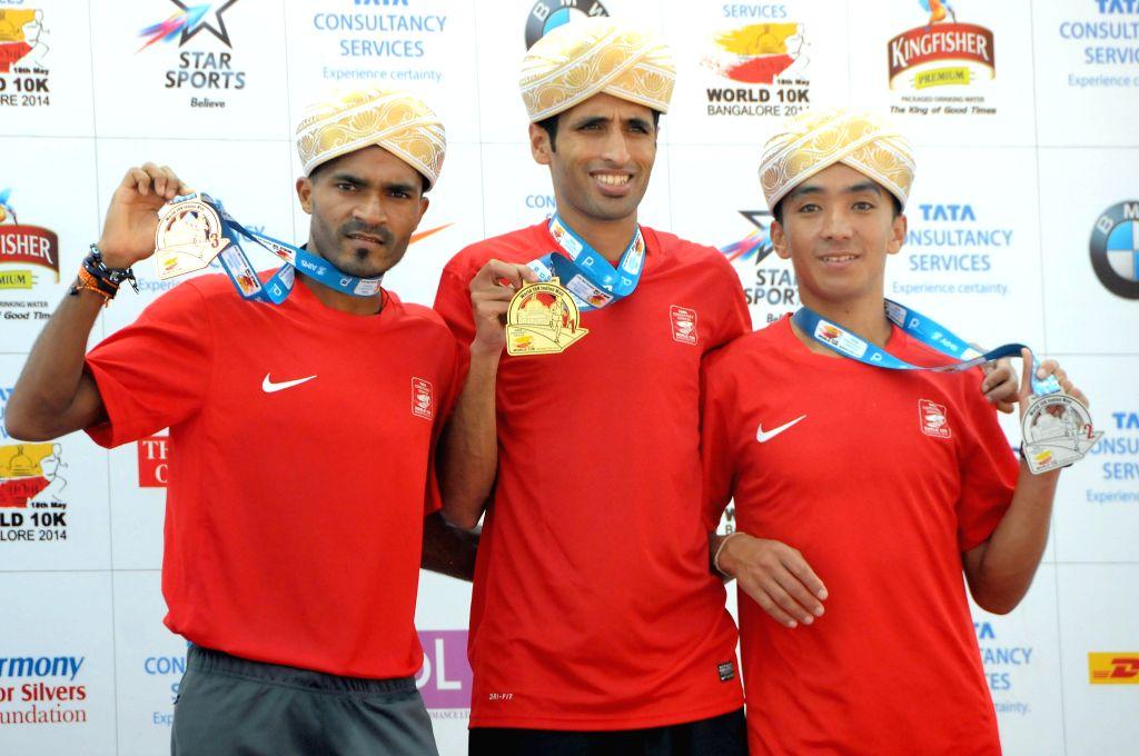 Participants of TCS World 10K Bangalore' at Kanteerava Stadium in Bangalore on May 18, 2014.