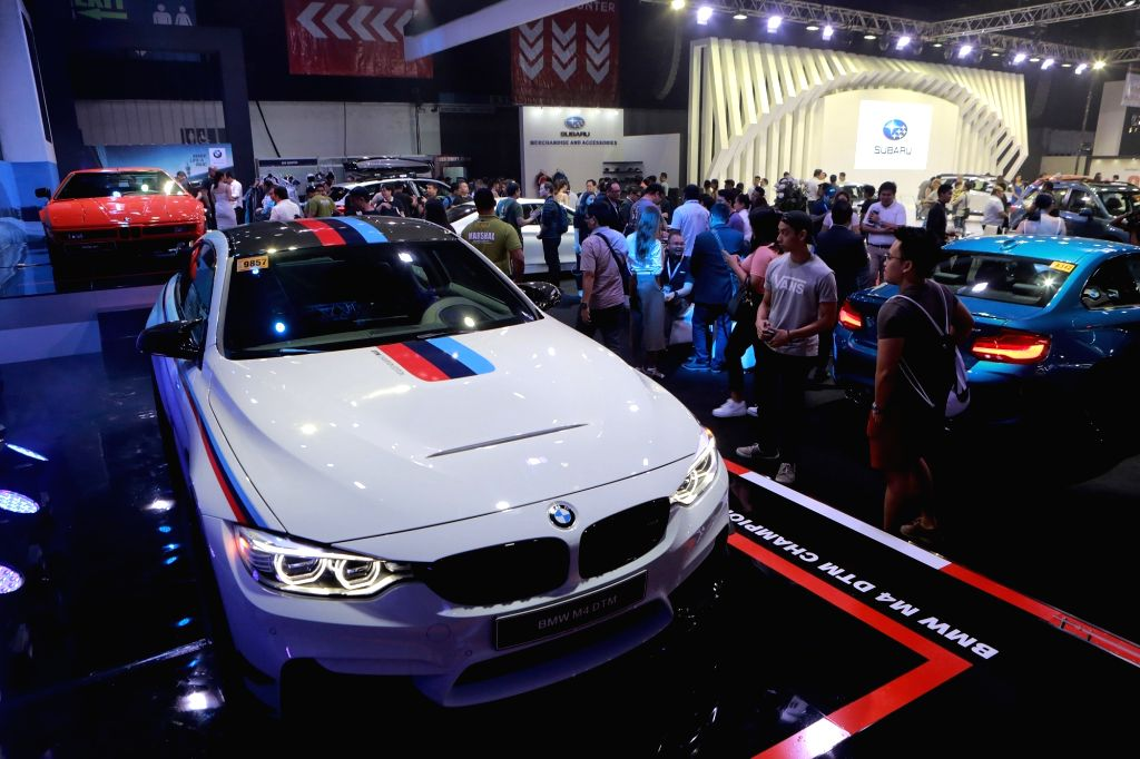 PASAY CITY, April 5, 2018 - Visitors attend the annual Manila International Auto Show at the World Trade Center in Pasay City, the Philippines, April 5, 2018.