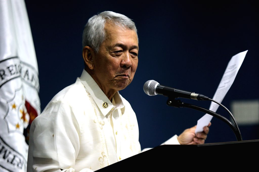 PASAY CITY, July 27, 2016 - Philippine Foreign Secretary Perfecto Yasay speaks during the joint press conference at the Philippine Department of Foreign Affairs in Pasay City, the Philippines, July ...