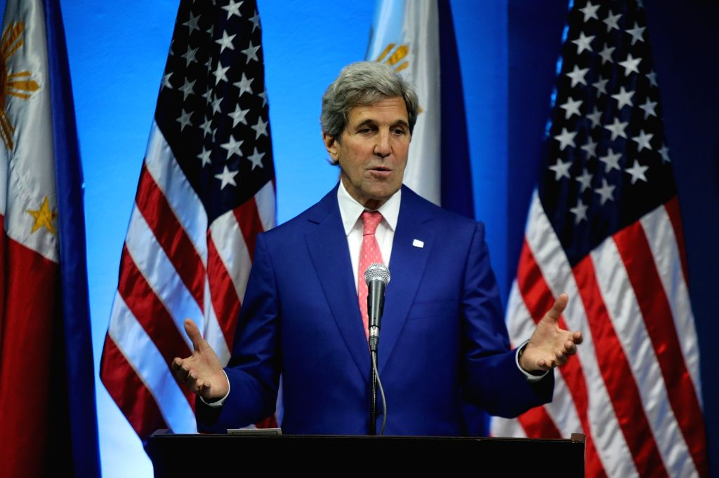 PASAY CITY, July 27, 2016 - U.S. Secretary of State John Kerry speaks during the joint press conference at the Philippine Department of Foreign Affairs in Pasay City, the Philippines, July 27, 2016. ...