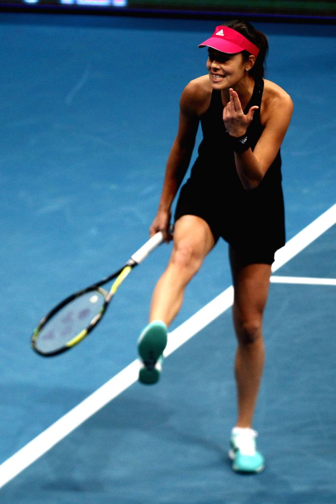 Pasay City (Philippines):Micromax Indian Aces player Ana Ivanovic of Serbia reacts during her women's singles match against Manila Mavericks player Maria Sharapova of Russia in the International ...