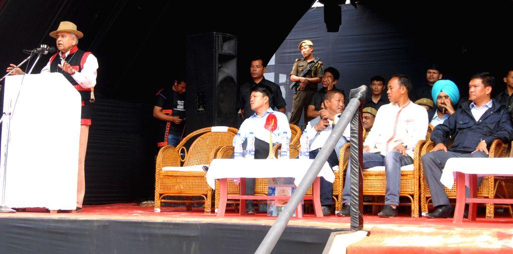 Arunachal Pradesh Governor Lt. Gen. Nirbhaya Sharma (Retd) addresses the inaugural function of the 1st Arunachal Spring Carnival in Pasighat in East Siang district of Arunachal Pradesh on ... - Nirbhaya Sharma