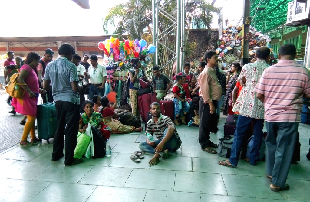 Passengers at the Sealdah railway station in Kolkata, on May 27, 2019.