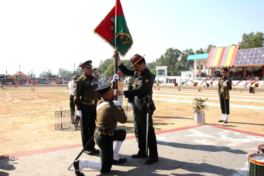 Chief of the Army Staff General Dalbir Singh at Mamun Military Station in Pathankot, in Punjab on Nov 5, 2014.