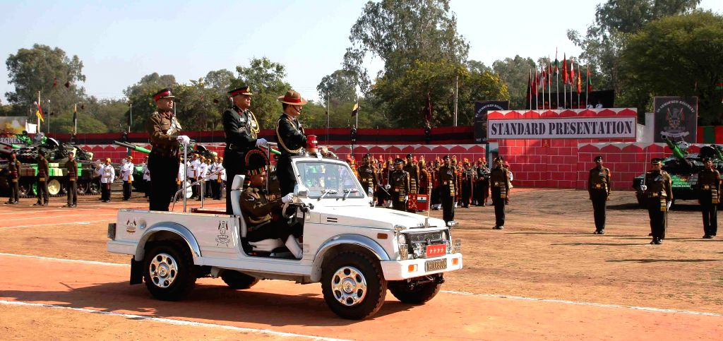 Chief of the Army Staff General Dalbir Singh inspects guard of honour at Mamun Military Station in Pathankot, in Punjab on Nov 5, 2014.