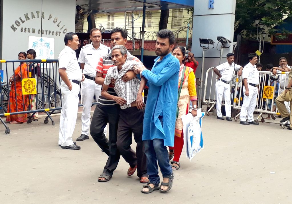 """Patients at SSKM Hospital face inconvenience as they are left unattended after health services in West Bengal's state-run hospitals remained partially disrupted as the """"cease work"""" ..."""