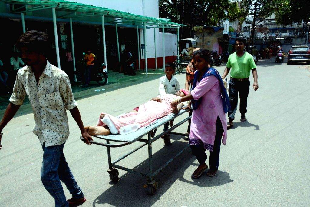 Patients left unattended after doctors at Patna Medical College and Hospital (PMCH) stage a demonstration who went on a one day token strike to express solidarity with their Kolkata ...