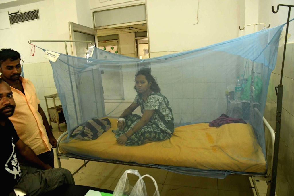 Patients receiving treatment for Dengue at Patna Medical College and Hospital (PMCH), on Oct 9, 2019.