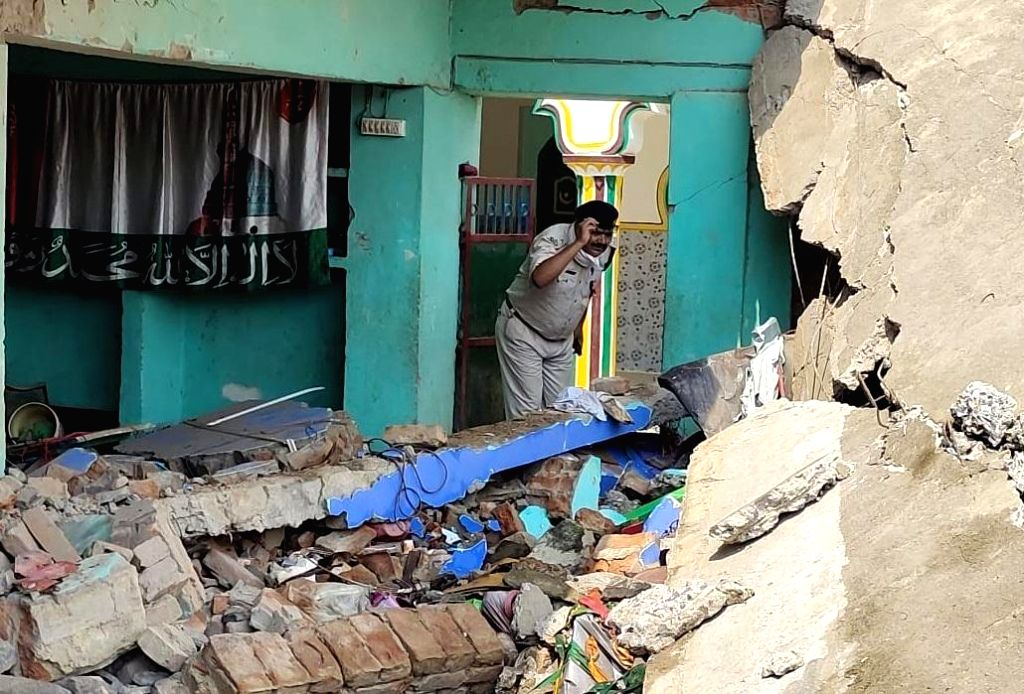 Patna : A massive blast took place on Tuesday morning in a Madarsa under Nagar police station in Bihar's Banka district, which completely destroyed the building. Two to three people are reported to ...