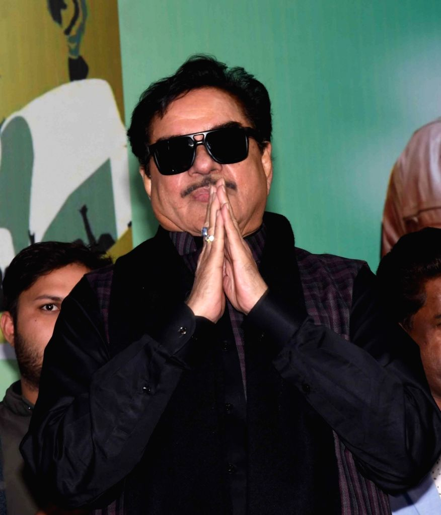 Patna: Actor-turned-politician and BJP MP Shatrughan Sinha during a programme organised on the occasion of Swami Vivekananda's 156th birth anniversary in Patna, on Jan 12, 2019. (Photo: IANS) - Shatrughan Sinha